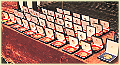 A display of UNICA medals.